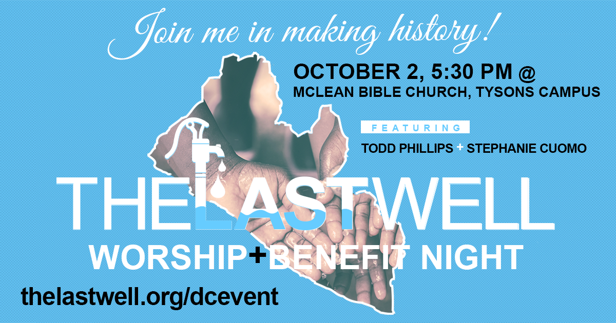 last well worship and benefit night at McLean Bible Church on 10/02/16
