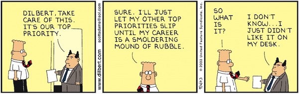 productivity joke 2 - Dilbert by Scott Adams