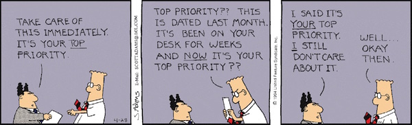productivity joke - Dilbert by Scott Adams